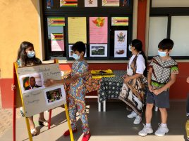 Junior School students presenting their research for Africa Day