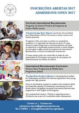 AKA Maputo admissions notice 2017