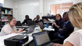 Professional development session on language development