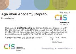 CIS certificate for AKA Maputo