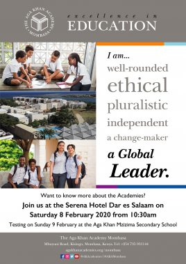 Poster for the event taking place in Dar es Salaam