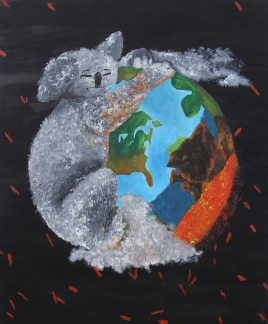 Painting about global warming