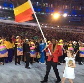 Joshua Tibatemwa Olympics flag bearer