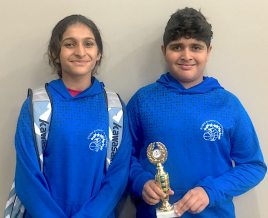 From left to right: Diya Gohil (year 9) and Sathyam Gohil (year 7)