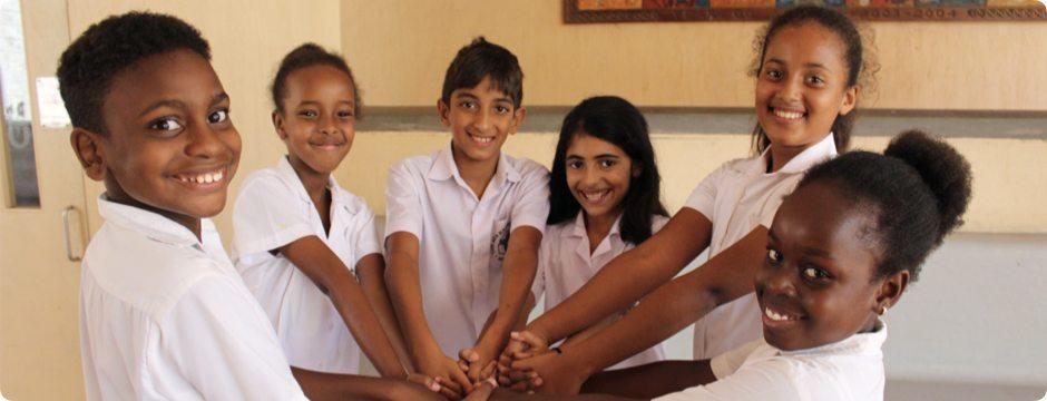 Mombasa Junior School students