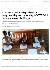 The Aga Khan Academies is featured on Concordia University's news webpage.