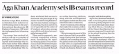 AKA Mombasa is featured in the Daily Nation newspaper for outstanding results in International Baccalaureate exams