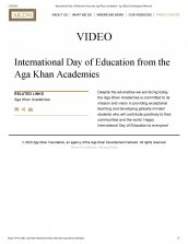 The Aga Khan Academies is featured for the International Day of Education.