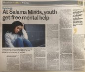 The Daily Nation features Khushbu Kotak (Class of 2021) about her organisation, Salama Minds, which gives the youth free access to mental health care