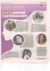 AKA Mombasa alumna and musician Xenia Manasseh is featured in the '254's women tastemakers' section of the Standard newspaper, which celebrates women pushing boundaries in the creative arts
