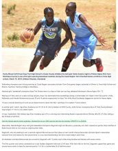 AKA Mombasa's girls' and boys' basketball team are featured for their accomplishments.