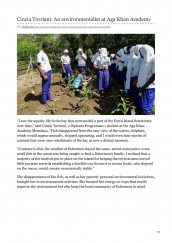 AKA Mombasa student Cinzia Torrani is featured in the Aga Khan Development Network website for her environmentalist work.