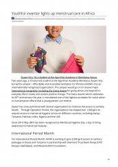 AKA Alumnus Ziyaan Virji is mentioned in The Exchange for launching International Period Month